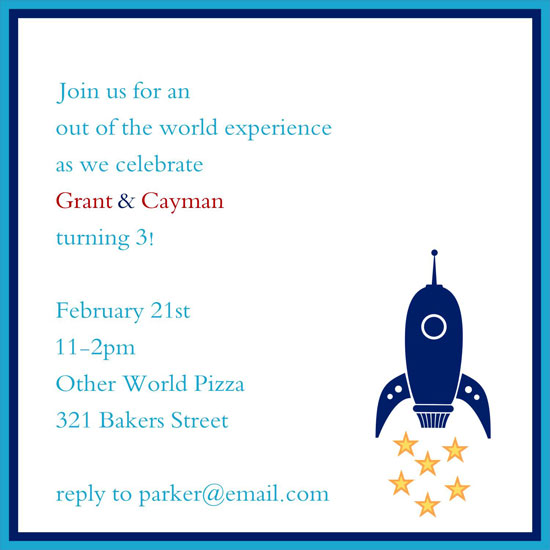 birthday party invitations - Out of This World by 1st Comes Love... Design