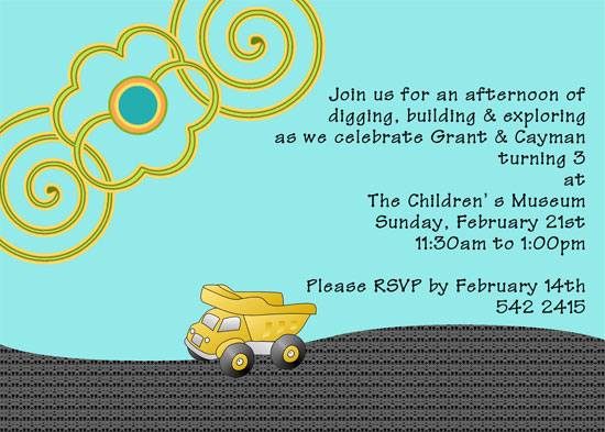 birthday party invitations - Digging for Fun by 1st Comes Love... Design