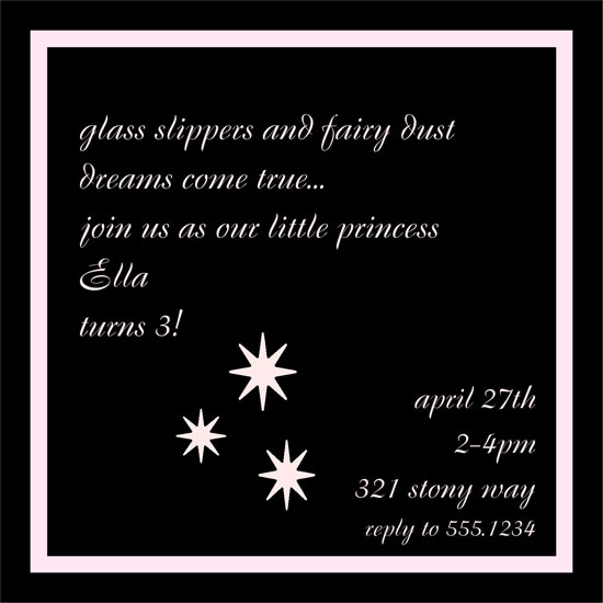 birthday party invitations - Slippers and Dust by 1st Comes Love... Design