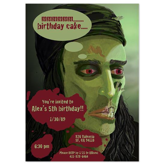 birthday party invitations - Zombie Pirate Birthday by Ri.S.K./Little Yeti