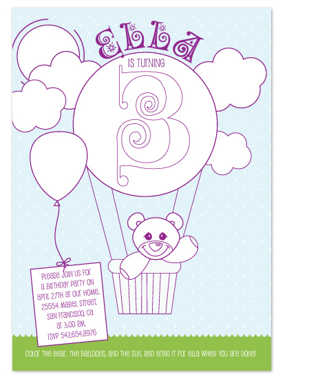 birthday party invitations - Coloring Book by Kristy Fischer