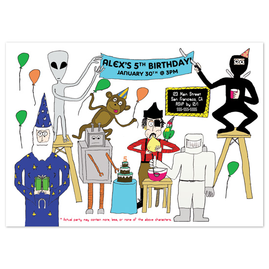 birthday party invitations - Most Awesomest Birthday Party by Fred Designs