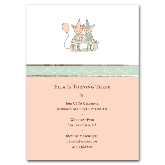 birthday party invitations - Bunny Party by Kimberly Schwede