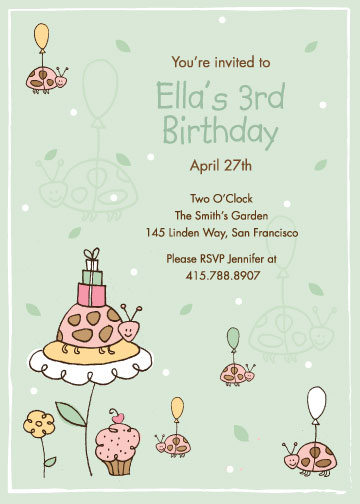 birthday party invitations - Garden Party by Kimberly Schwede