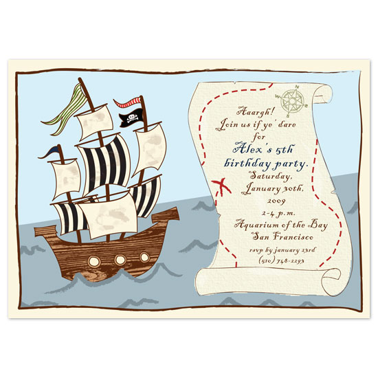 birthday party invitations - It's A Pirate's Life by Paper Stories
