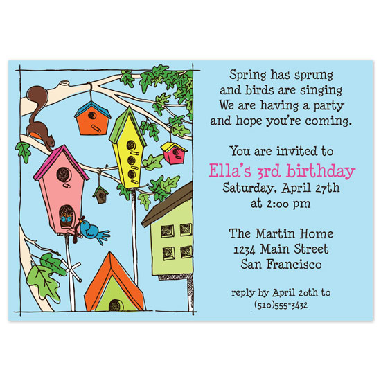 birthday party invitations - Spring has sprung by Paper Stories