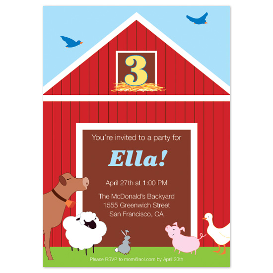 birthday party invitations the barn party at minted com