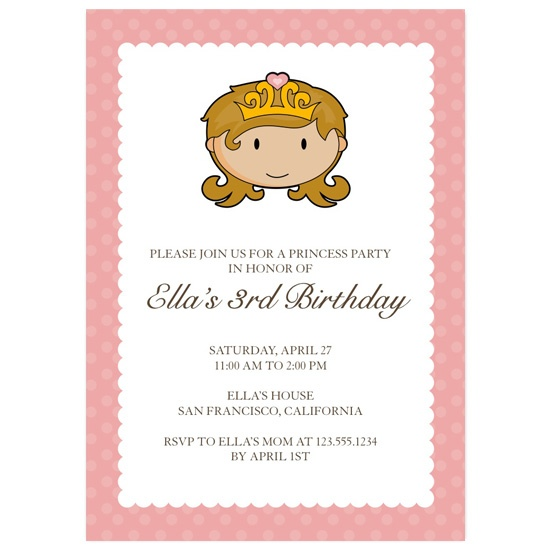 birthday party invitations - Princess by keriberi