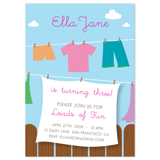 birthday party invitations - Loads of Fun by Sublime Design