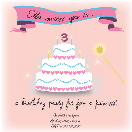 birthday party invitations - Fit for a Princess by Natalie D