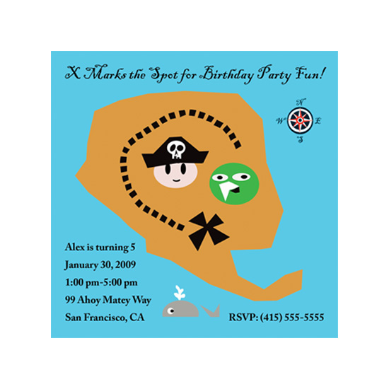 birthday party invitations - Ahoy! by Colleen Garrison