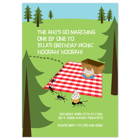 birthday party invitations - Ants on Parade by Paper Stories
