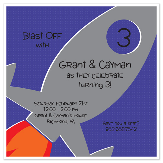 birthday party invitations - Taking Flight by Lesa Adams