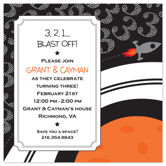 birthday party invitations - The Big Three by Lesa Adams