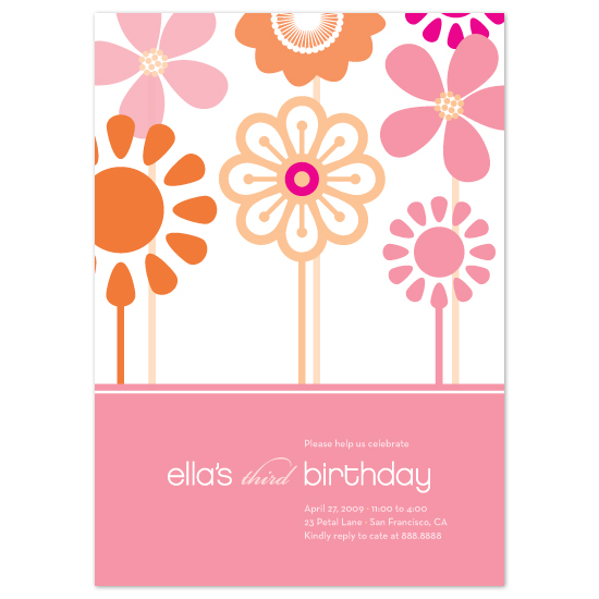 birthday party invitations Happy Daisies at Minted – Party Invitations Designs