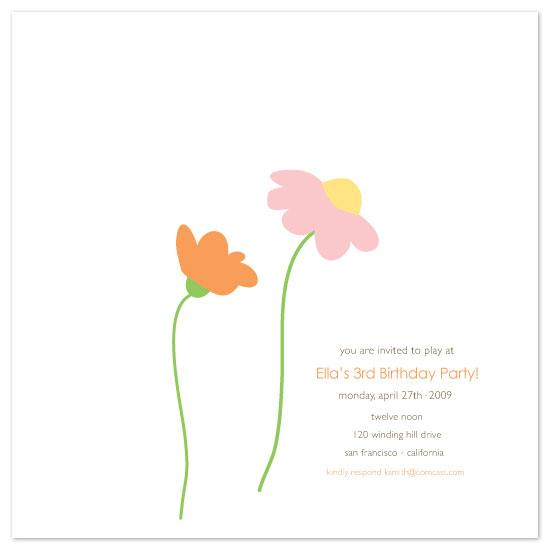 birthday party invitations - Ella by dani notes