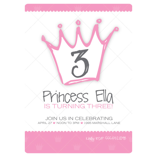 birthday party invitations - Pink Princess by Blush Creative