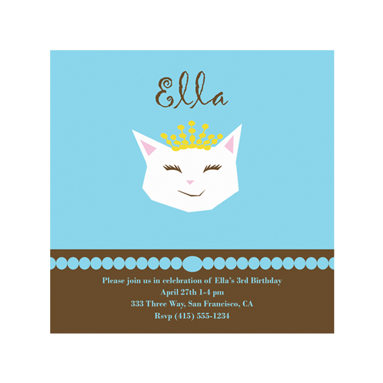 birthday party invitations - Pretty Kitty by Colleen Garrison