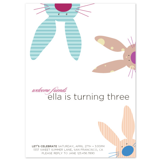 Birthday Party Invitations Bunny Buds At Minted Com