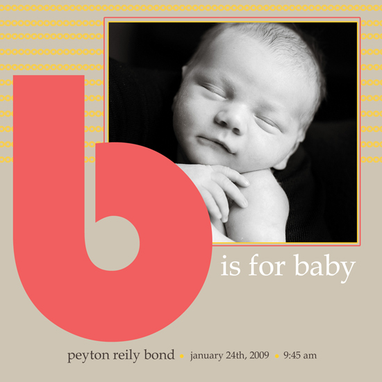 birth announcements - B is for Baby! by Megan Eileen Designs