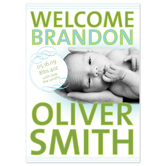 birth announcements - Welcome Type Cutout by Asato Design