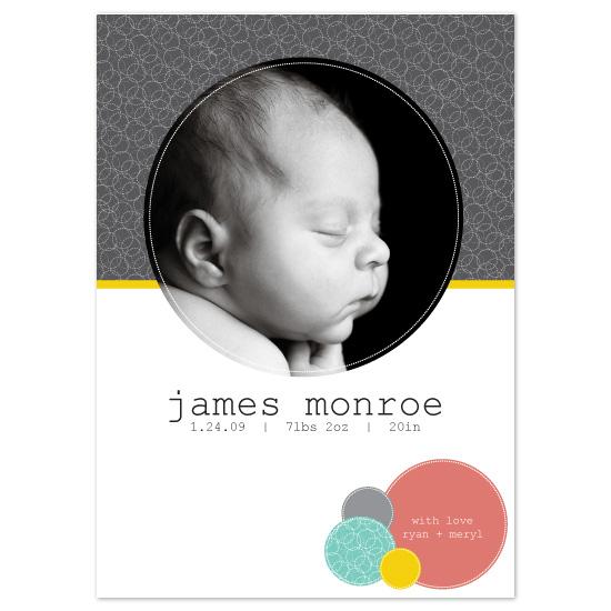 birth announcements - James Monroe by Blush Creative