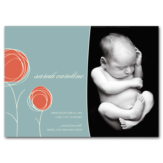 birth announcements - Sweet Blooms by Carrie Eckert