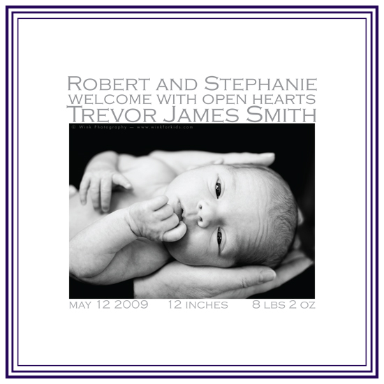 birth announcements - simple square by .cevd.