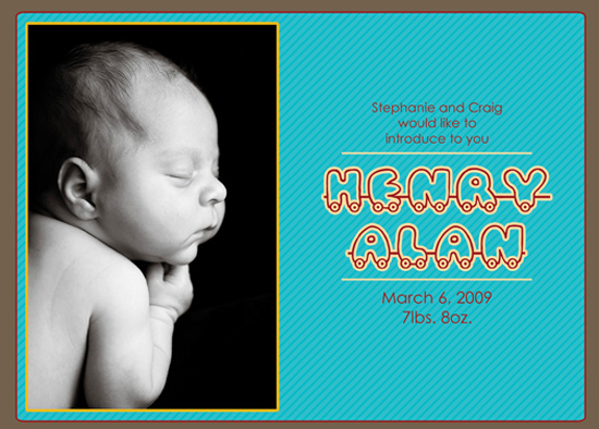 birth announcements - Baby Train! by Megan Eileen Designs