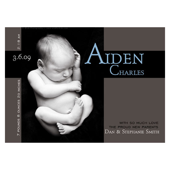 birth announcements - Aiden by mimsydotes