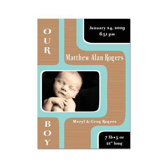 birth announcements - MidCentury Baby by PaperDahlCreations