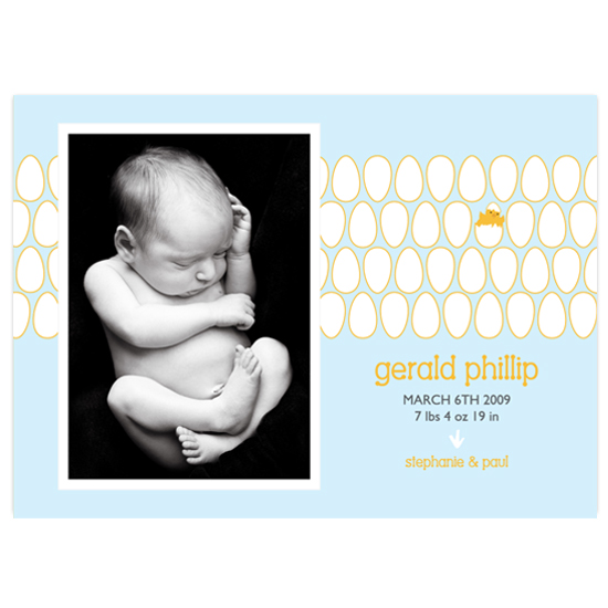 birth announcements - Peep by connors creative