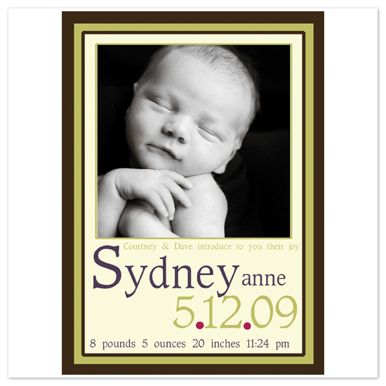 birth announcements - Sydney by mimsydotes