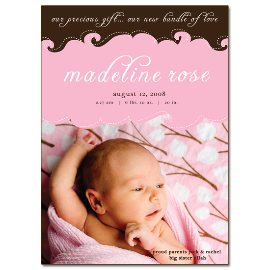 birth announcements - Precious Gift by Inkberry Creative
