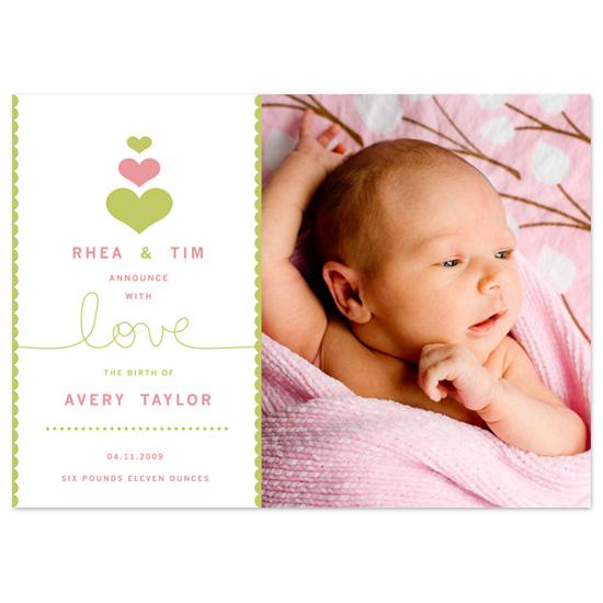 birth announcements - Love of Mine by Carolyn Kozlowski