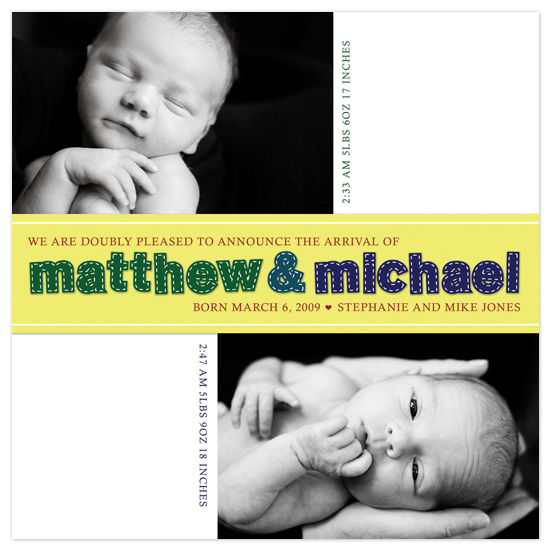 birth announcements - stitches by connors creative