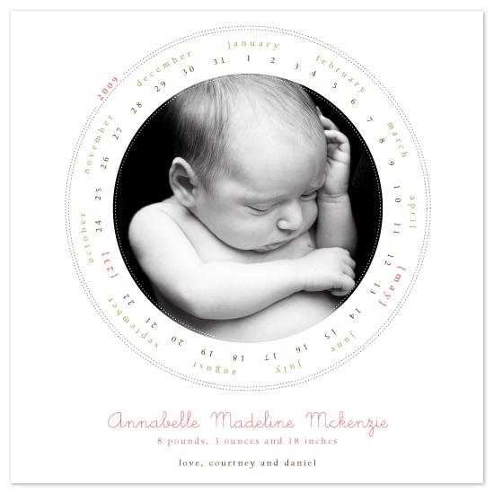 birth announcements - Calendar Cute by Jody Wody