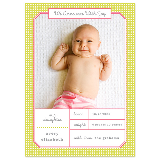 birth announcements - Love and Be Loveable by Carolyn Kozlowski
