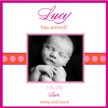 birth announcements - simplistic line by ciao•tay