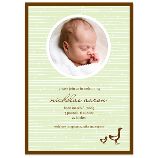 birth announcements - Little Ducks by Carman Design Studios