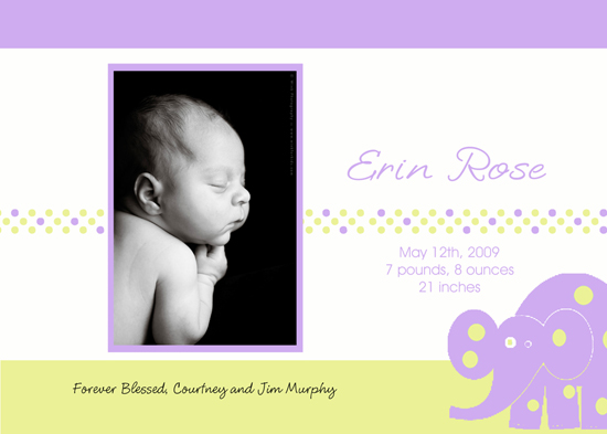 birth announcements - Little Bebe-Girl by Carol