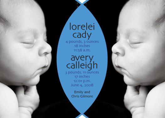 birth announcements - Two of the same by Autumn