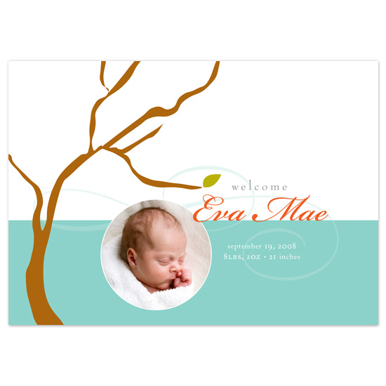 birth announcements - Eva by Jennifer Amy Designs