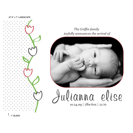 birth announcements - tulips by Sharon