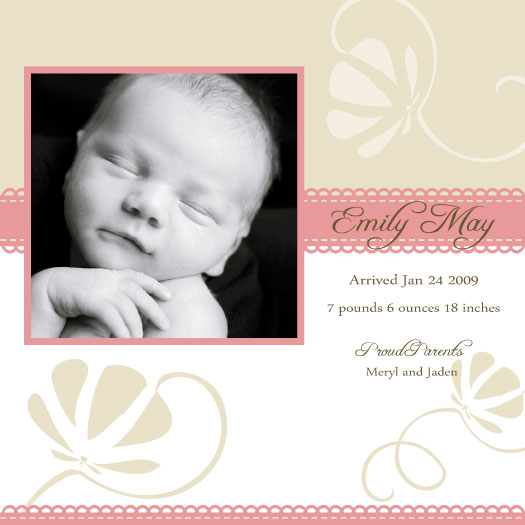 birth announcements - Just Bloomed by Ssongji