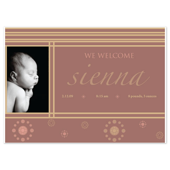 birth announcements - candy stripe by bean and pie designs