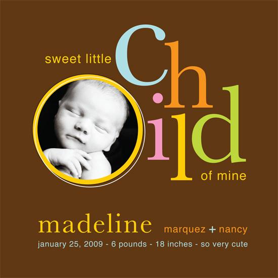 birth announcements - Sweet Child Of Mine by notjustpaper