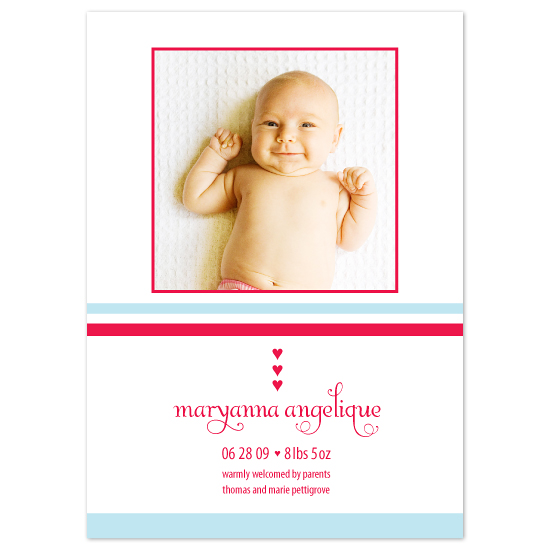 birth announcements - Sweethearts by Chamelle Designs