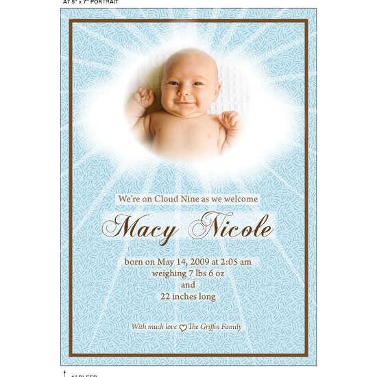 birth announcements - CLOUD NINE by Sharon