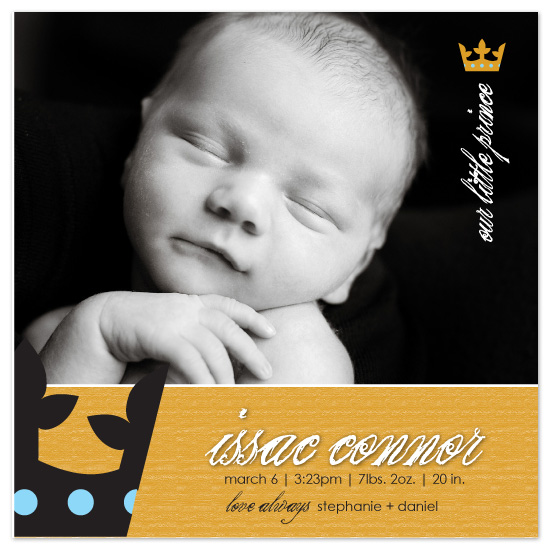 birth announcements - Issac Connor by Blush Creative